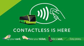 Contactless payments can be made on the Nidderdale Rambler bus.
